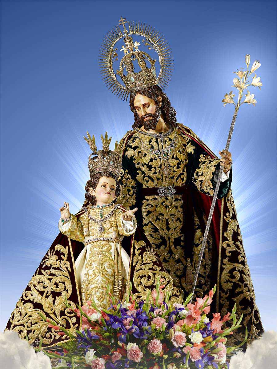 """<a href=""""/святой-иосиф/"""" title=""""Святейший Коронованный Святой Иосиф Пальмарский"""">Святейший Коронованный Святой Иосиф Пальмарский<br><br>Узнать больше</a>"""