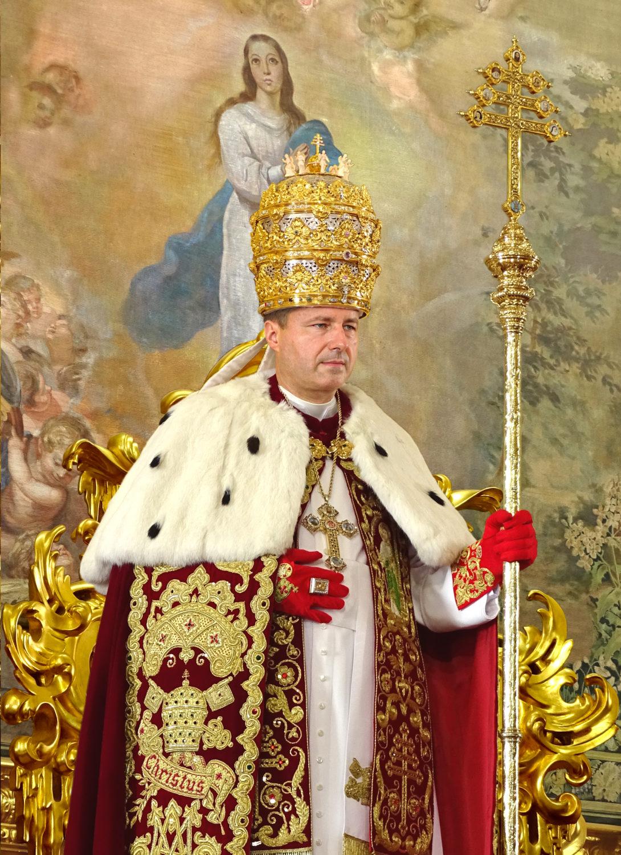 """<a href=""""/папа-петр-iii/"""" title=""""Его Святейшество Папа Петр III"""">Его Святейшество Папа Петр III, <br><i>De Glória Ecclésiæ</i><br><br>счастливо правящий<br><br><br>Узнать больше</a>"""